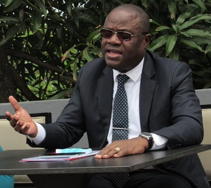 Le ministre de l'Education nationale, Patrick Mouguiama-Daouda