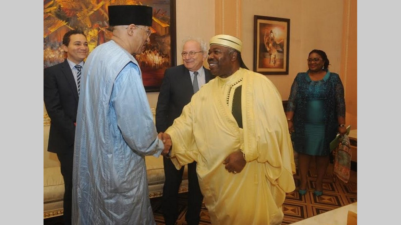 Activités présidentielles : Mohamed Moussa échange avec Ali Bongo Ondimba