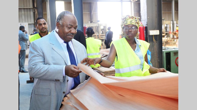Activités présidentielles : Ali Bongo Ondimba à la ZERP de Nkok