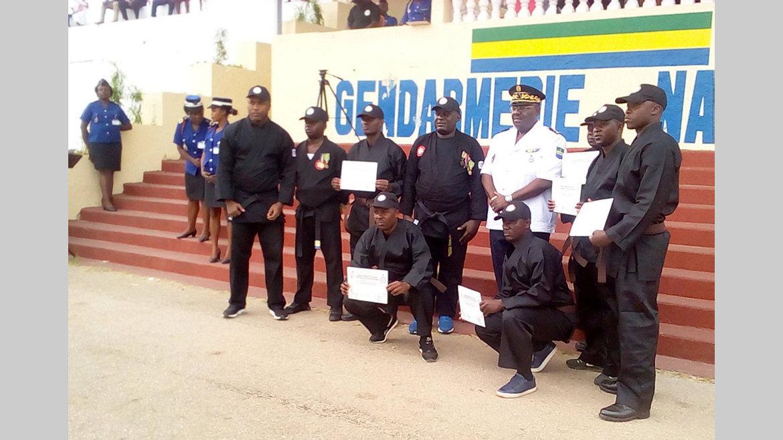 Arts martiaux : 65 stagiaires distingués à la gendarmerie