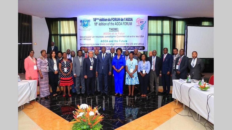 Agoa/18                                             e forum : Le Gabon présent aux assises
