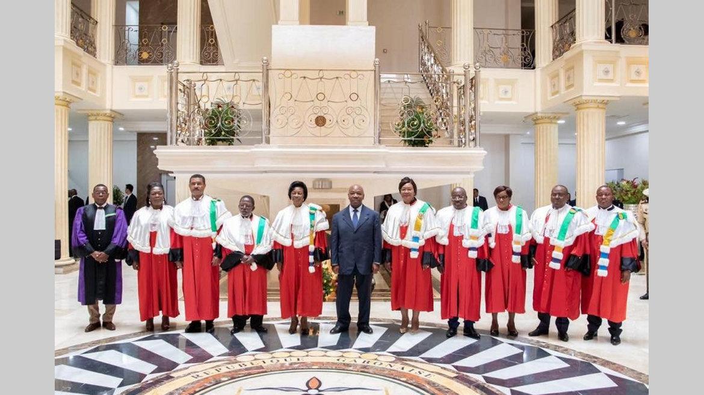 Audience solennelle à la Cour constitutionnelle : Le serment des neuf juges devant Ali Bongo Ondimba
