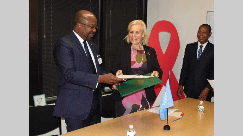 Coopération Gabon-Onusida : Signature d'un accord de siège
