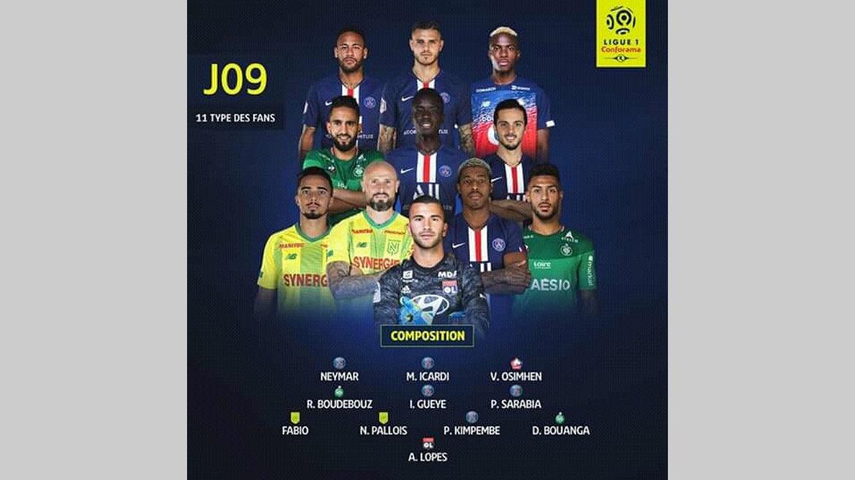 Football/Au terme de la 9e journée de Ligue 1 : Le Gabonais Denis Bouanga dans l'équipe-type