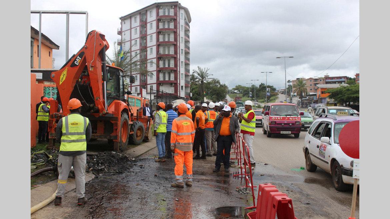 : 6h:Boulevard Triomphal Début des travaux de réfection