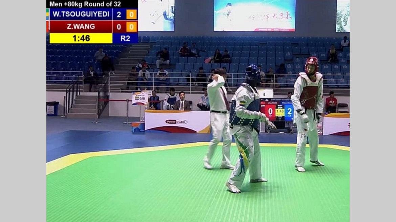 Taekwondo : Wolbert Tsouguiyedi au tapis d'entrée