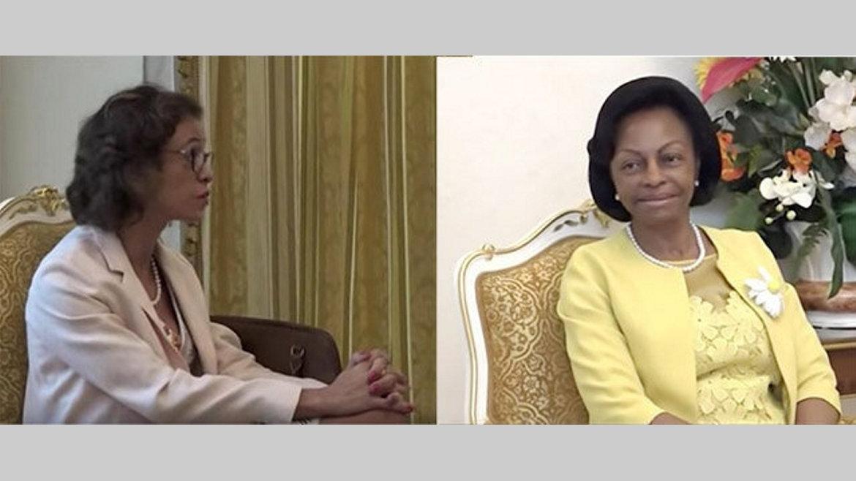 Diplomatie : Rosario Bento Pais échange avec Marie-Madeleine Mborantsuo