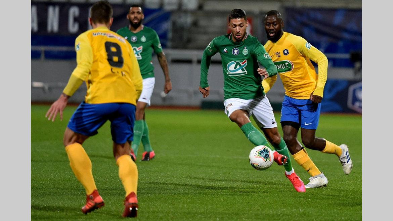 Coupe de France : Bouanga buteur, les Verts filent en demi-finale