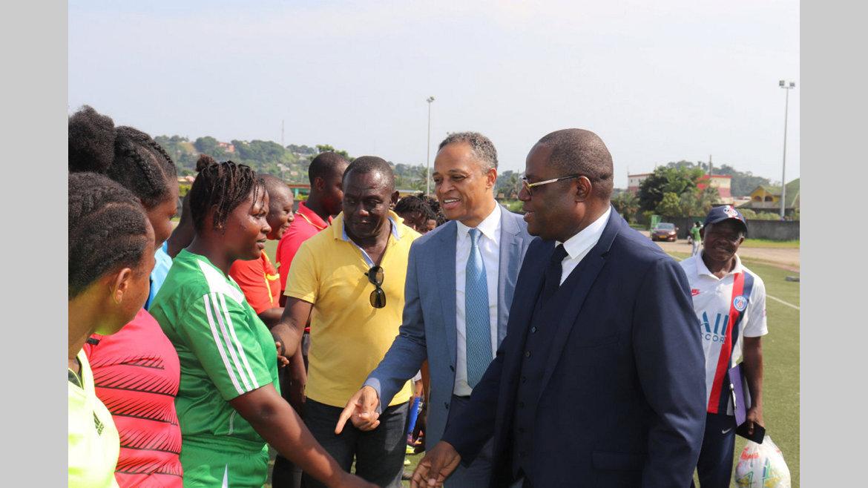 CSU : Franck Nguema et Patrick Daouda Mouguiama sur le terrain
