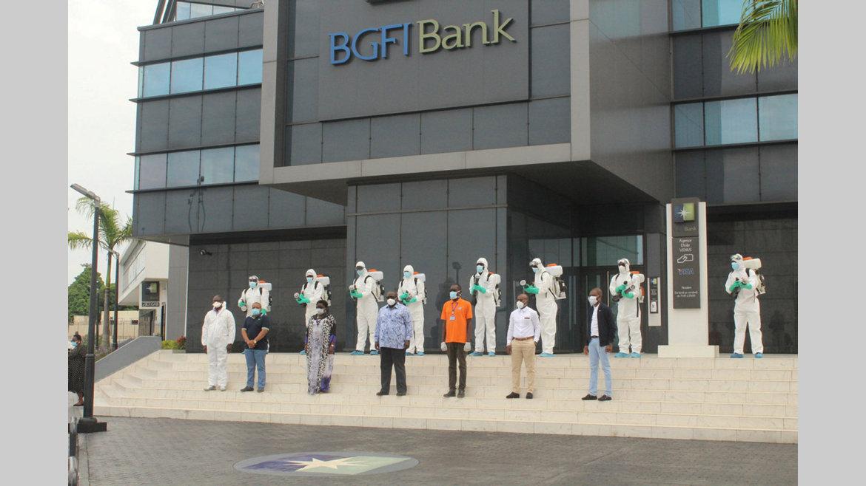 Covid-19 : BGFIBank procède à la désinfection de ses agences