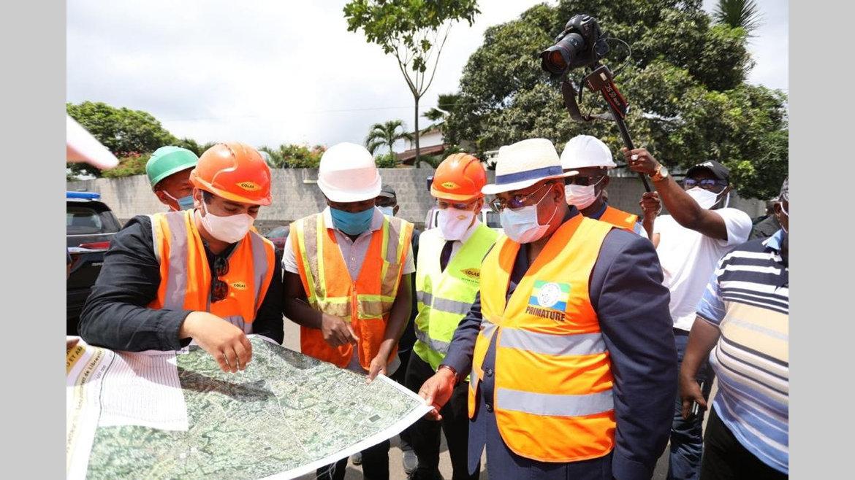 Réfection des voiries de Libreville : près de 60% des travaux déjà réalisés.