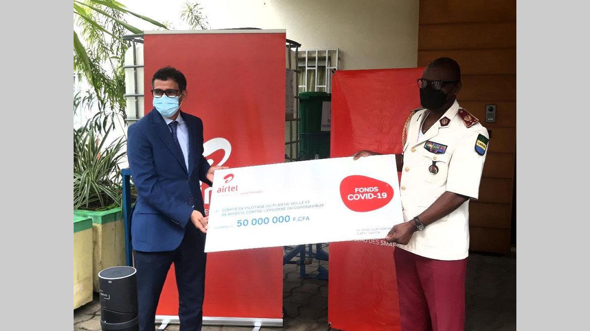 Fonds Covid-19 : Airtel-Gabon fait un don de 50millions de francs