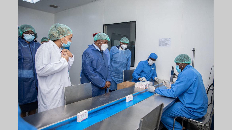 Investissement : Ali Bongo Ondimba inaugure La Santé Pharmaceutique de Nkok