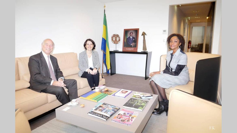 Gabon-France : Liliane Massala reçoit les membres du CIAN et un opérateur gabonais