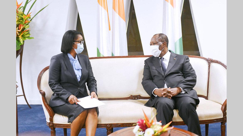 Investiture d'Alassane Ouatarra : Rose Christiane Ossouka Raponda représente Ali Bongo Ondimba