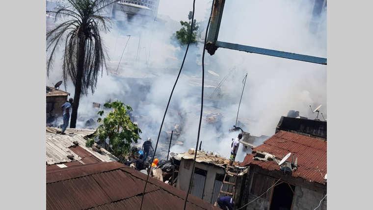 Nombakélé : plusieurs habitations réduites en cendres