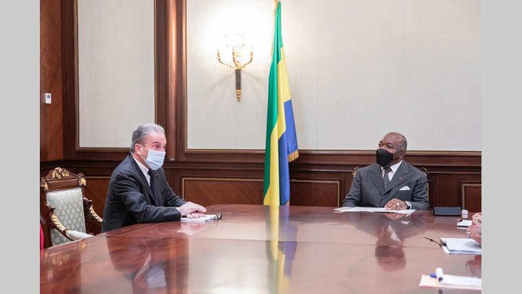 Présidence : Henri Proglio hôte d'Ali Bongo Ondimba