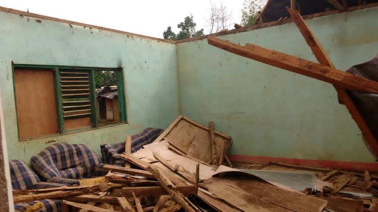 Meyo-Kyè : un orage cause de nombreux dégâts matériels