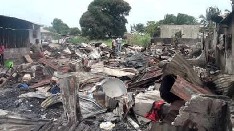 Port-Gentil : Sept maisons réduites en cendres à Persistance