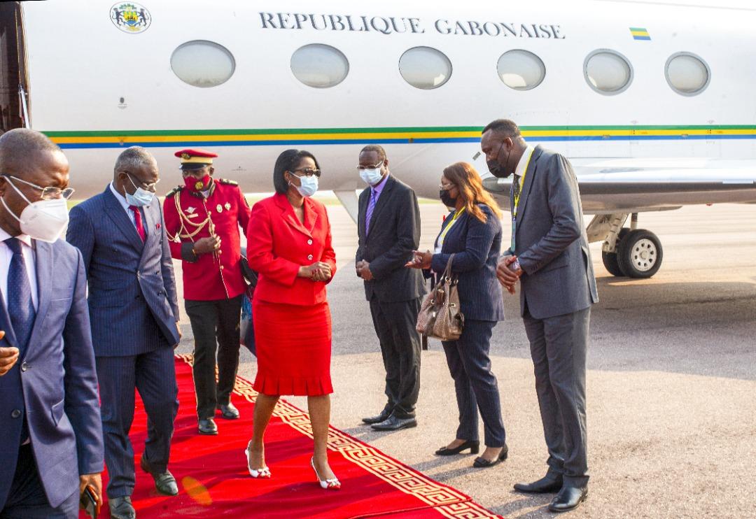 Rose Christiane Ossouka Raponda à son arrivée à Brazzaville ce 4 juin 2021