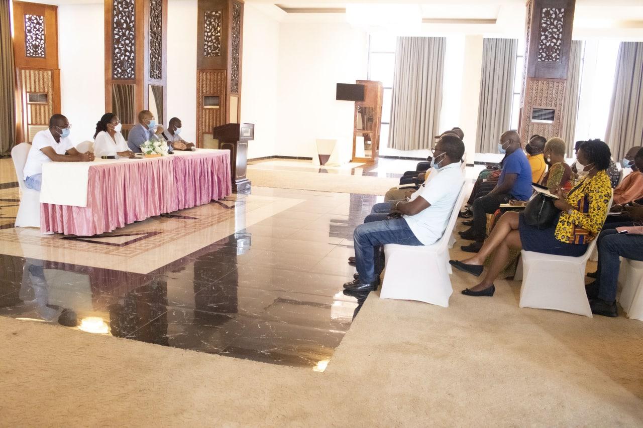 Le ministre de la Santé, Guy Patrick Obiang Ndong durant la rencontre