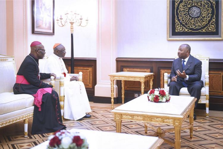 Activités présidentielles : Le cardinal Robert Sarah hôte du président Ali Bongo Ondimba