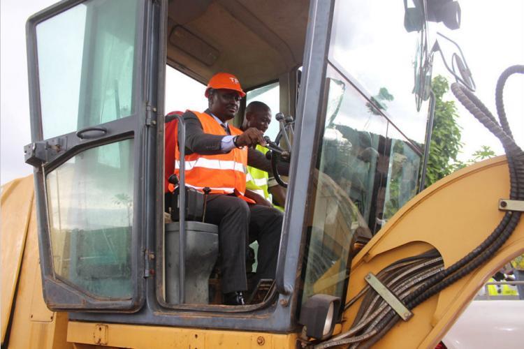 Bambouchine : La route en travaux