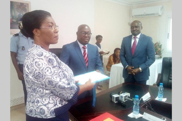 ANBG : La nouvelle directrice générale dans ses fonctions