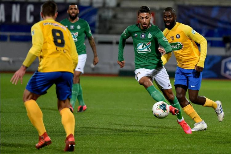 Coupe de France : Bouanga buteur, les Verts filent en demi-finale