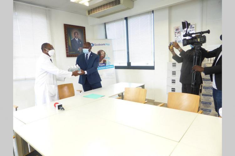 Don : 20millions de francs de matériel hospitalier d'Ecobank au CHUL