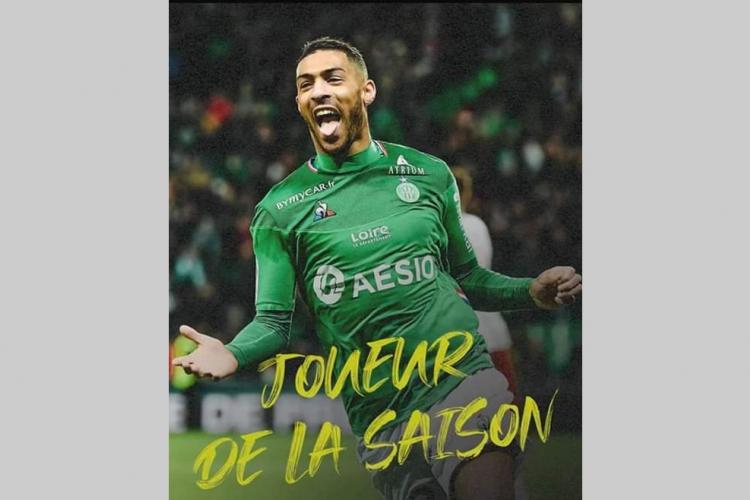 Saint-Etienne : Denis Bouanga élu meilleur joueur de la saison