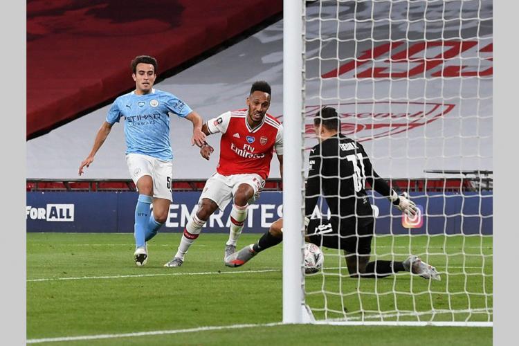 Demi-finale de la Coupe d'Angleterre : Aubameyang qualifie Arsenal face à City