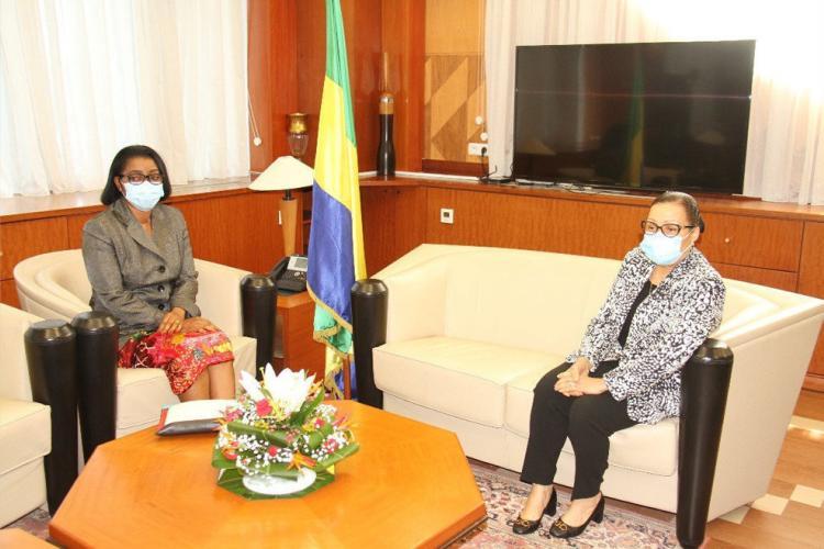 Parlement : Rose Christiane Ossouka Raponda chez Lucie Milebou Aubusson-Mboussou