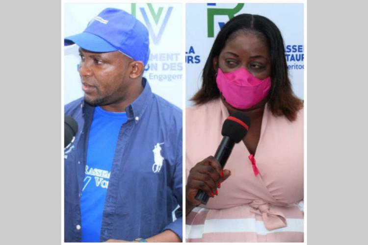 RV : Christelle Agaya et Loïc Moulaka présentés aux militants