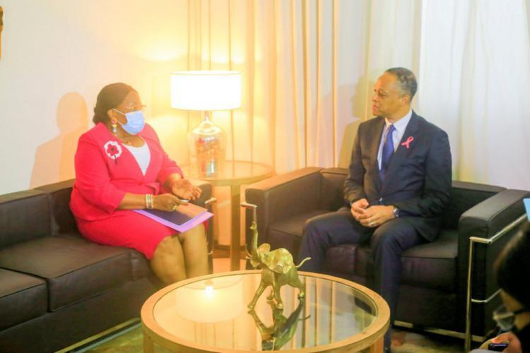 ONDSC : Franck Nguema rencontre Jeanne Mbagou