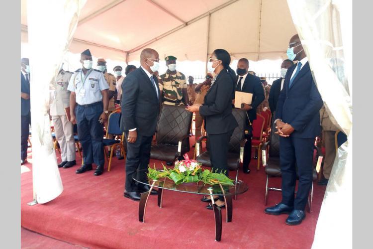 Prison centrale de Libreville : réception d'un bâtiment annexe de la détention