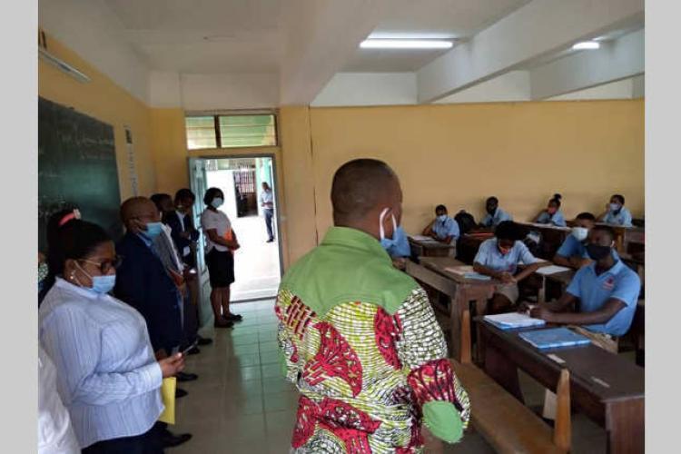 Lycée technique Omar-Bongo : Un retour en classe en douceur