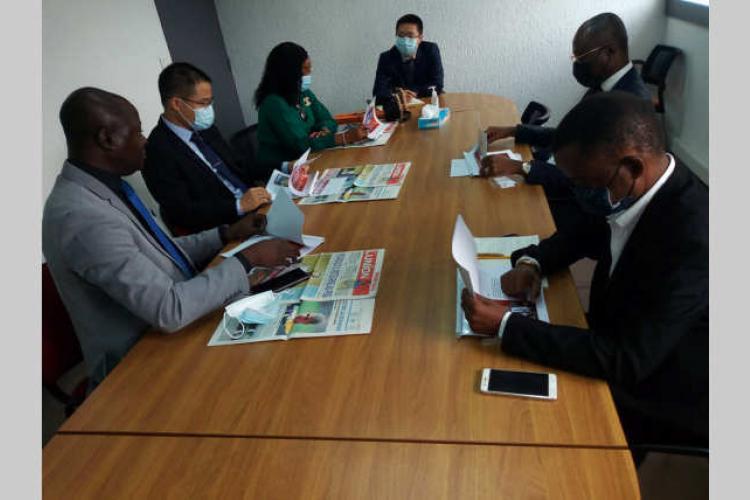 """Coopération : Une délégation de Huawei dans les locaux de """"L'Union"""""""