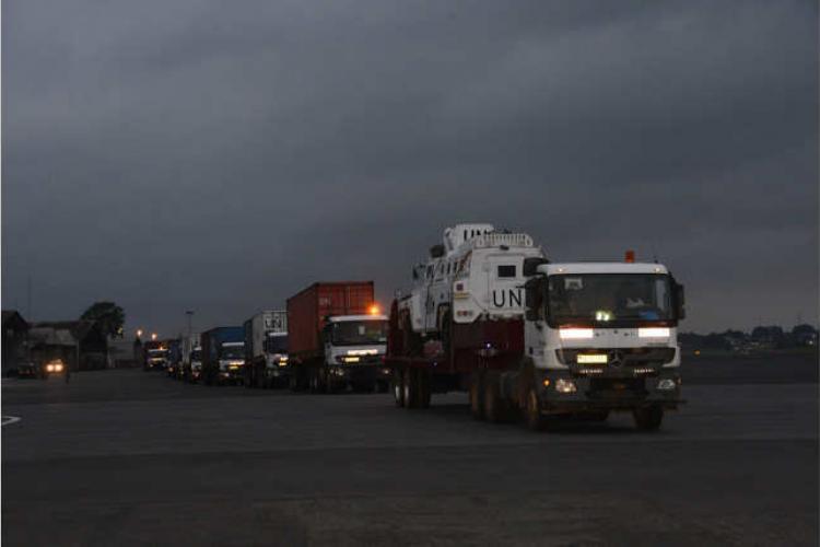 Bangui : 7econvoi logistique au bénéfice des troupes gabonaises de la Minusca.