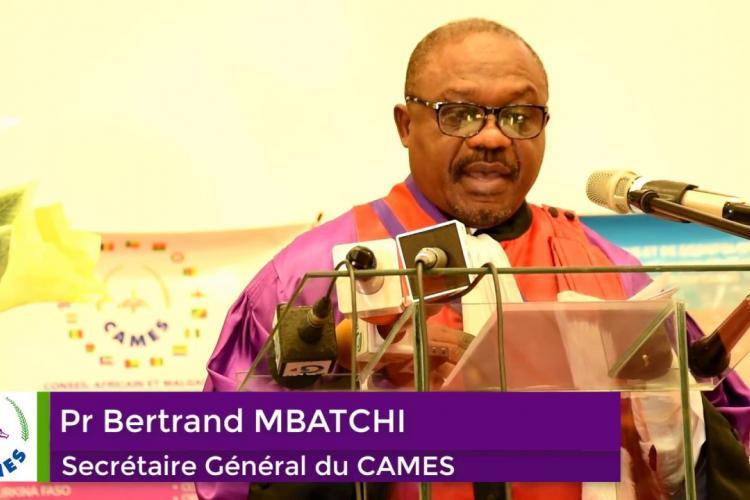 CAMES: Pr Bertrand Mbatchi est mort