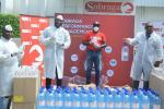 Covid-19 : Sobraga remet un stock de solutions hydroalcooliques auCopil