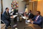 Gabon-OIF : Flavien Enongoue échange avec Slim Khalbous