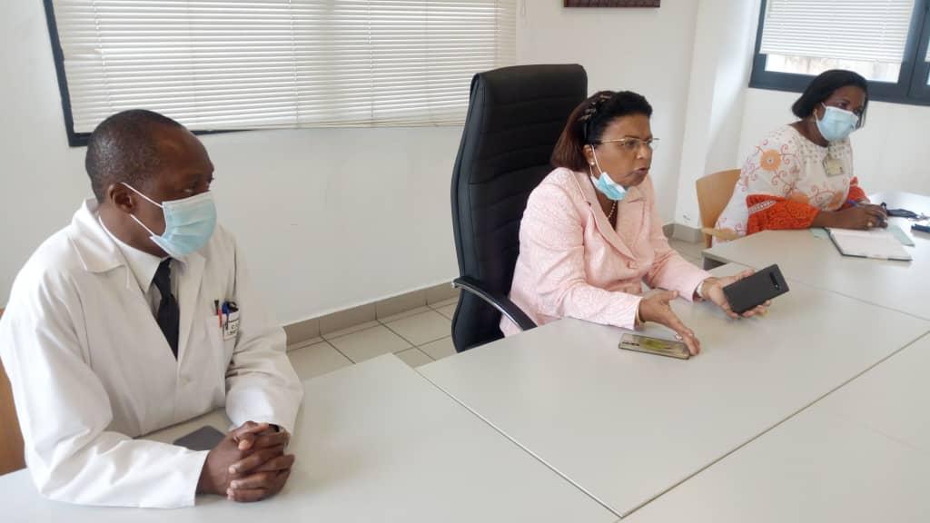 Une phase des échanges entre la direction et le personnel du CHUL, ce mercredi 02 juin 2021
